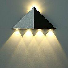 ETiME LED 5W Wandleuchte Wandlampe Dreieckig