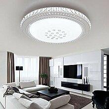 ETiME LED Kristall Deckenleuchte Rund Deckenlampe