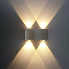 ETiME LED Wandleuchte 4W Wandlampe Warmweiss 2700K