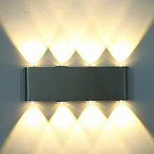 ETiME LED Wandleuchte 8W Wandlampe Warmweiss