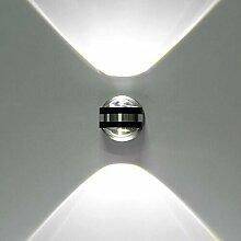 ETiME LED Wandleuchte innen Wandlampe Flurlampe Treppenleuchten Deckenleuchte up down effekt 6W (6W kaltweiss Design)