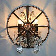 ETJar Industrielampe Vintage Wandlampe Eisenkäfig