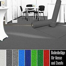 etm Premium Messeteppich Meterware   Eventteppich als Hochzeitsläufer, Premierenteppich, VIP-Teppich uvm.   viele Farben und Größen   Anthrazit - 200x1500 cm