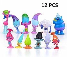 EU-Pretty DreamWorks Film Trolle Puppen 12pcs Mini