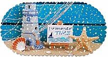 EU-VV rutschfeste Badematte Duschmatte Oval