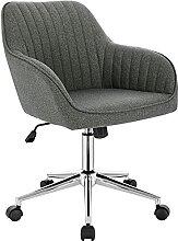 EUGAD 0138BGY 1 x Arbeitshocker Bürostuhl