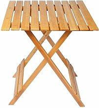 EUGAD Klapptisch Beistelltisch Gartentisch Falttisch faltbar Bambus ca.66 x 66 x 75 cm BT06br
