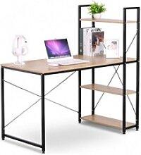 EUGAD Schreibtisch, Bürotisch mit Ablage Holz