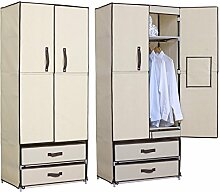 EUGAD SS5022be Kleiderschrank Garderobenschrank