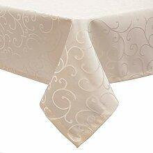 EUGAD Tischdecke Damast Ornamente Seidenglanz
