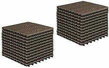 EUGAD WPC Premium Terrassenfliesen Bodenfliese