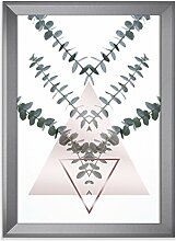 Eukalyptus Triangel als Kunstdruck 30x40cm mit