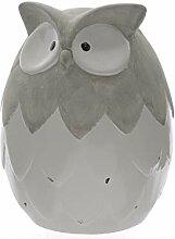 Eule aus Keramik Deko Tier Gartendeko Dekofigur