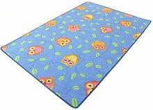 Eule blau HEVO® Teppich | Spielteppich | Kinderteppich 145x200 cm