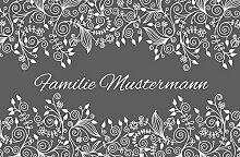 Eule-Design Fußmatte Ornamente Grau Schwarz Pink
