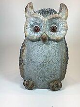 Eule Owl Deko Figur Garten Terrasse Balkon