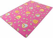 Eule pink HEVO® Teppich | Spielteppich | Kinderteppich 200x200 cm