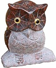 Eule, Tierfigur aus Granit, Frostfes