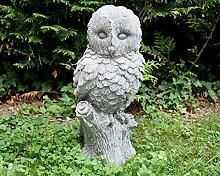 Eule Uhu Skulptur Gartenskulptur Figur Gartenfigur