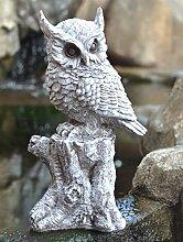 Eule Veronica Tier Figur, Gartendeko, Garten, 20 x 30 x 45 cm, Wetterbeständig und frostsicher