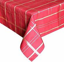 Eurcross rot Gold kariert Muster Tischdecke für