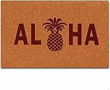 Eureya Custom Fußmatte Aloha Ananas Fußmatte
