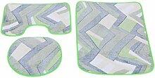 Euro Tische Badteppich Set rutschfest & waschbar
