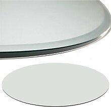 Euro Tische Glasplatte für Kaminofen rund -