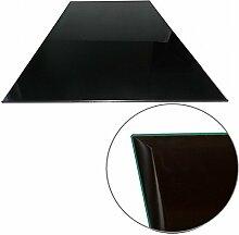 Euro Tische Glasplatte für Tisch schwarz -