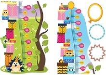 Euroart Wandsticker Meßlatte für Kinder 50 cm x
