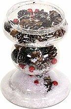 EUROCINSA Teelichthalter aus Glas mit Zapfen,