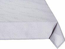 Eurofirany 72872 Weihnachten Tischdecke Cho/Spark/ST, Polyester, weiß, 40 x 40 cm
