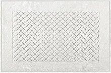Eurofirany DY/EVITA/01/B60 Badematte, Stoff, weiß, 90 x 60 x 1,5 cm
