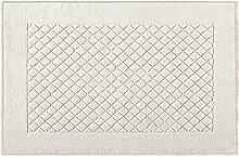Eurofirany DY/EVITA/02/K Badematte, Stoff, cremig, 70 x 50 x 1,5 cm