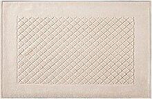Eurofirany DY/EVITA/03/BEŻ Badematte, Stoff, beige, 90 x 60 x 1,5 cm