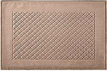 Eurofirany DY/EVITA/04/J.BR60 Badematte, Stoff, braun, 90 x 60 x 1,5 cm