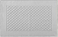 Eurofirany DY/EVITA/06/SREB60 Badematte, Stoff, silber, 90 x 60 x 1,5 cm
