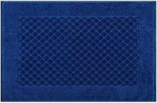 Eurofirany DY/EVITA/09/CHAB60 Badematte, Stoff, blau, 90 x 60 x 1,5 cm