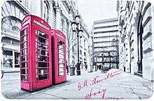 Eurofirany DY/PHONE Badematte, bedruckt, Stoff, grau, 90 x 60 x 3 cm