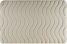 Eurofirany DY/WAVE/BEŻ60 Badematte, Stoff, beige, 90 x 60 x 3 cm