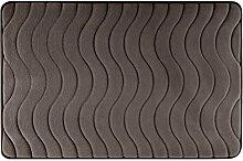 Eurofirany DY/WAVE/BRĄZ60 Badematte, Stoff, braun, 90 x 60 x 3 cm