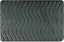 Eurofirany DY/WAVE/GRAF60 Badematte, Stoff, grau, 90 x 60 x 3 cm