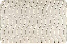 Eurofirany DY/WAVE/K60 Badematte, Stoff, cremig, 90 x 60 x 3 cm