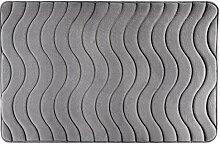 Eurofirany DY/WAVE/STAL60 Badematte, Stoff, grau, 90 x 60 x 3 cm
