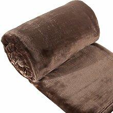 Eurofirany KOC/SOFT/BRĄZ 150x200 Decke Soft, flauschige, weiche Sofadecke, braun