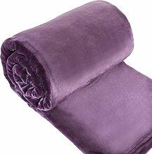 Eurofirany KOC/SOFT/FIOL 150x200 Decke Soft, flauschige, weiche Sofadecke, viole