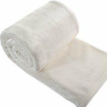 Eurofirany KOC/SOFT/K 150x200 Decke Soft, flauschige, weiche Sofadecke, cremig