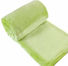 Eurofirany KOC/SOFT/ZIEL 150x200 Decke Soft, flauschige, weiche Sofadecke, grün