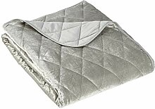 Eurofirany Tagesdecke, Polyester, Silber, 170 x