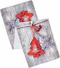 Eurofirany Tischdecke Weihnachten 40x140 Ro